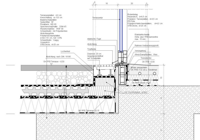 Haustüranschluss detail  CAD-Bauplanung J.Danielczok - Planungsbeispiele